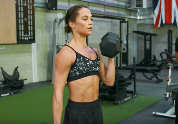 "<p>The Oscar winner <a href=""https://www.usatoday.com/story/life/entertainthis/2018/02/05/alicia-vikander-tomb-raider-workout-routine/1085704001/"" rel=""nofollow noopener"" target=""_blank"" data-ylk=""slk:gained 12 pounds of pure muscle"" class=""link rapid-noclick-resp"">gained 12 pounds of pure muscle</a> to portray Lara Croft in <em>Tomb Raider</em> under the guidance of Magnus Lygdback, who also trained Gal Gadot for <em>Wonder Woman</em>. For seven months prior to filming, the 5-foot-5 actress endured MMA-fighting training for an hour a day for six or seven days a week in addition to rock climbing, swimming and intensive strength training to bulk up.</p>"
