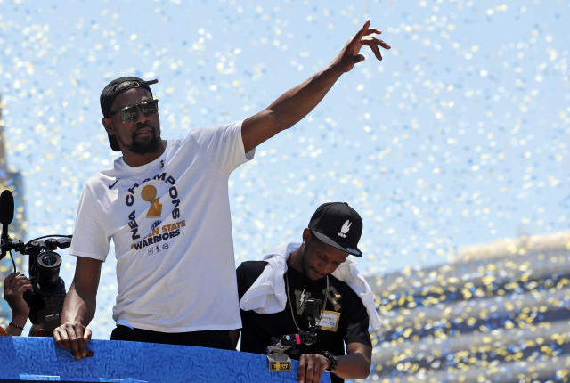 "Kevin Durant has the rings and the accolades but not the respect of Hall of Famer Walt ""Clyde"" Frazier. (AP)"