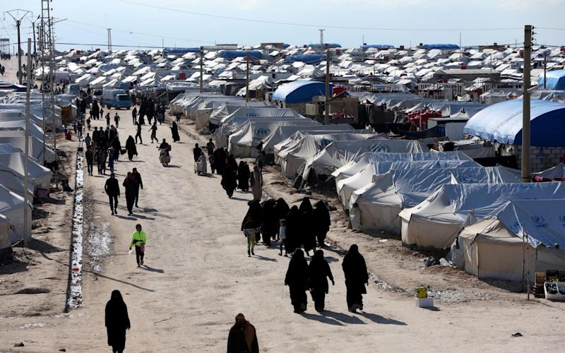 The woman and her children are currently living in the al-Hol refugee camp in Syria - REUTERS