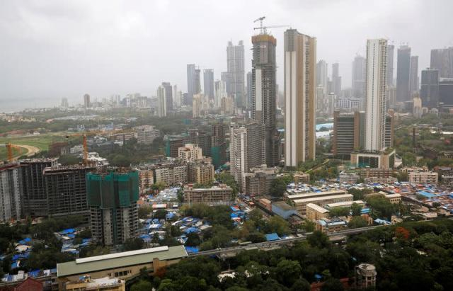 FILE PHOTO: Office and residential buildings are seen in Mumbai