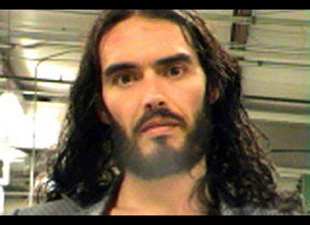 Russell Brand was arrested on March 15 after allegedly throwing and smashing a photographer's iPhone in New Orleans. (New Orleans Parish Sheriff's Office)