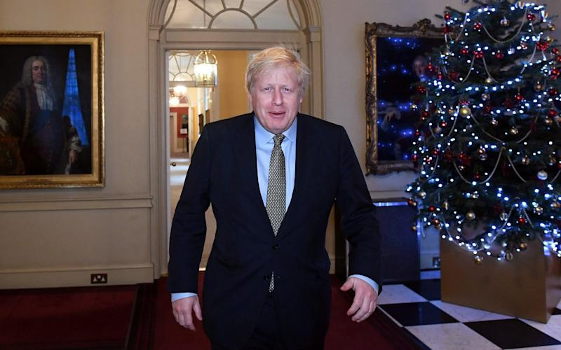 Britain's Prime Minister Boris Johnson leaves Downing Street for Buckingham Palace after the Conservative Party was returned to power in the general election with an increased majorit - REUTERS