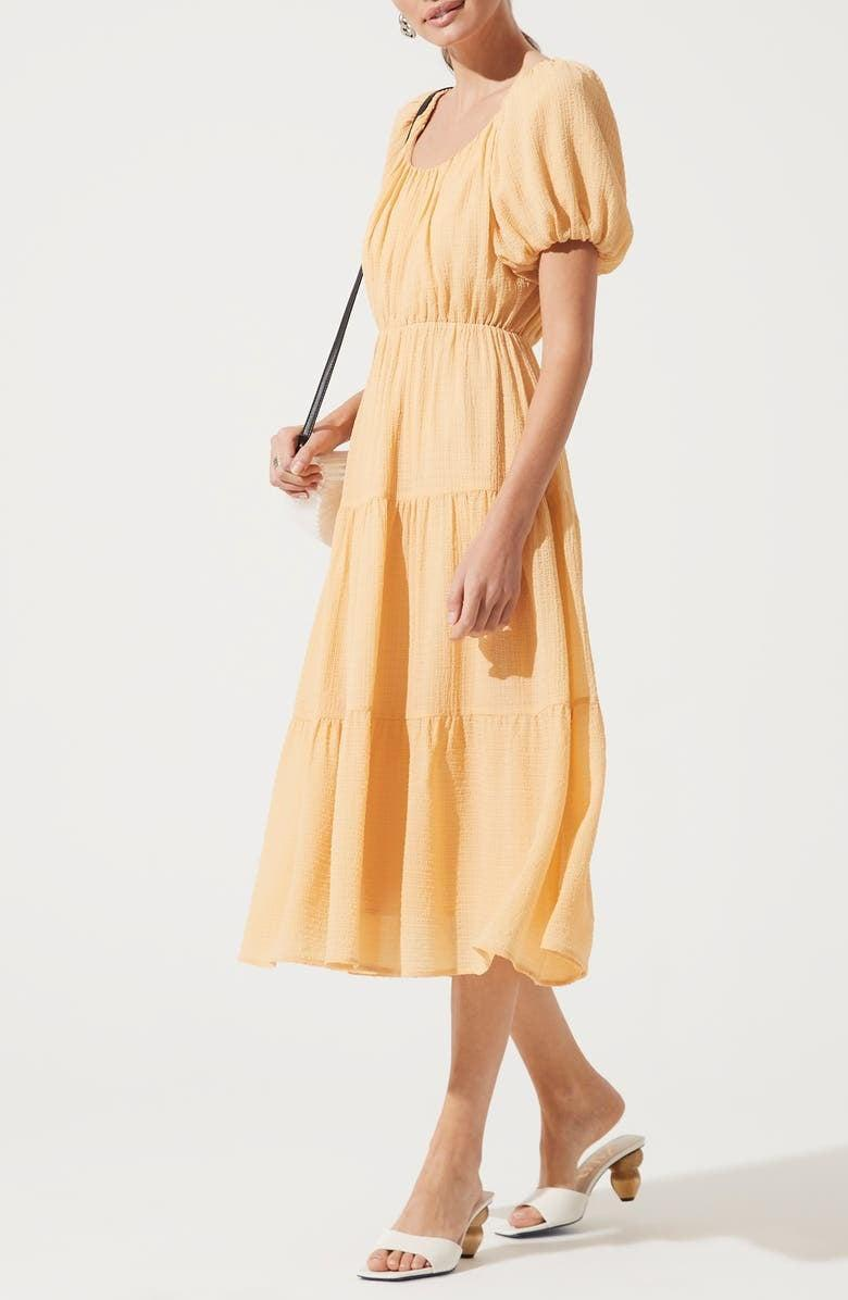 <p>You can wear this versatile <span>ASTR the Label Tiered Short Sleeve Dress</span> ($89) with sandals or sneakers.</p>