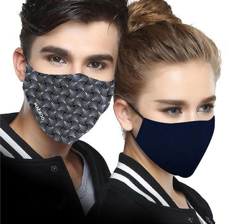 """<p>maceoo.com</p><p><strong>$19.99</strong></p><p><a href=""""https://maceoo.com/collections/shop-face-masks/products/2-face-masks-white-lion"""" rel=""""nofollow noopener"""" target=""""_blank"""" data-ylk=""""slk:BUY IT HERE"""" class=""""link rapid-noclick-resp"""">BUY IT HERE</a></p><p>Maceoo—a menswear brand that combines west coast style with luxe Italian fabrics—will donate a fabric face mask for every face mask sold. Each mask is made with quality Italian fabrics and they're available in a variety of cool graphic prints.</p>"""