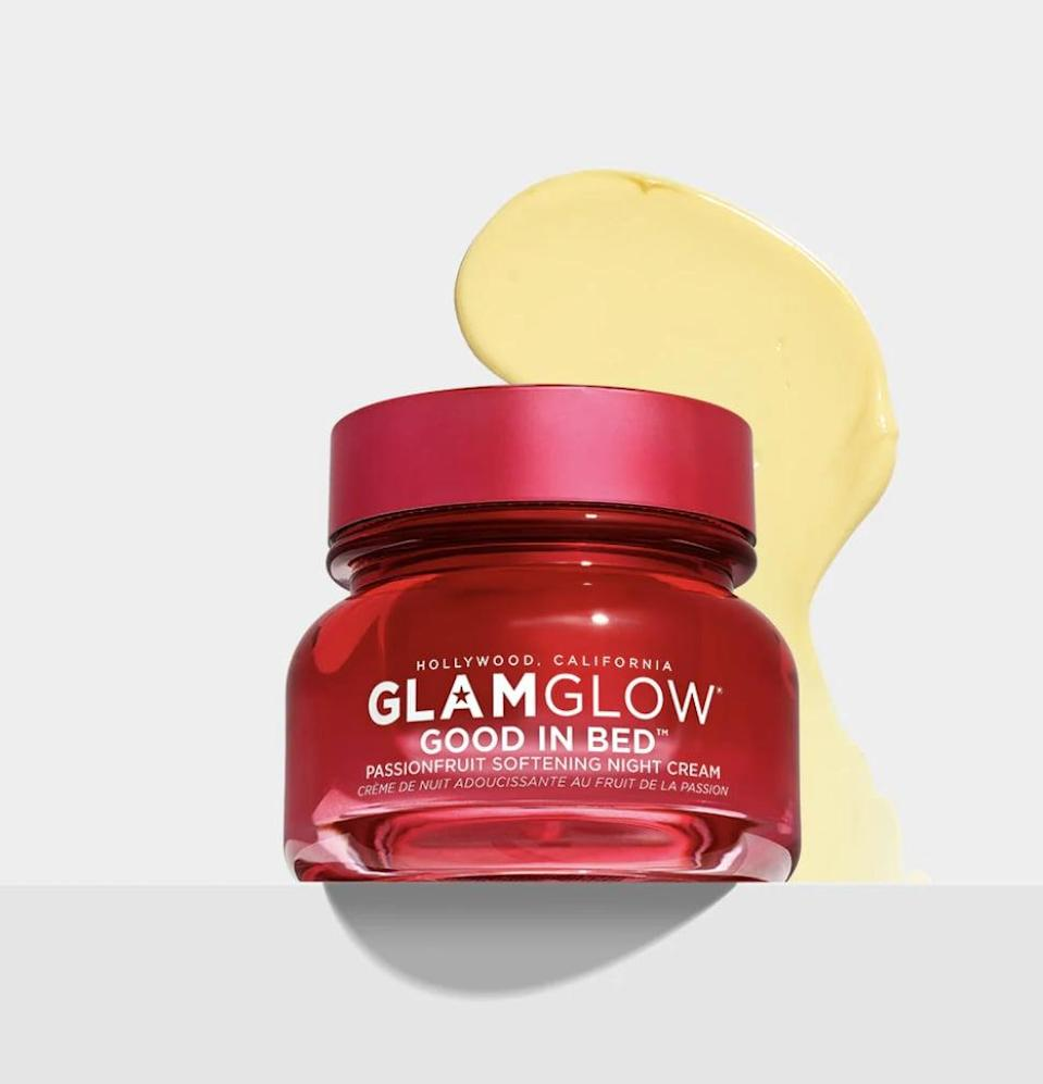 <p>The <span>Glamglow Good in Bed Passionfruit Softening Night Cream</span> ($54) sounds like a product for your, erm, nether regions, or maybe even a personal lubricant, but we assure you it isn't. It's a sleeping mask that soothes irritated dry patches and leaves skin feeling bouncy with moisture.</p>