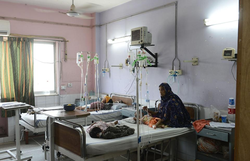 <p>File: The intensive care unit of Mayo hospital in Pakistan's Lahore, where a man posed as a doctor to perform surgery </p> (AFP via Getty Images)