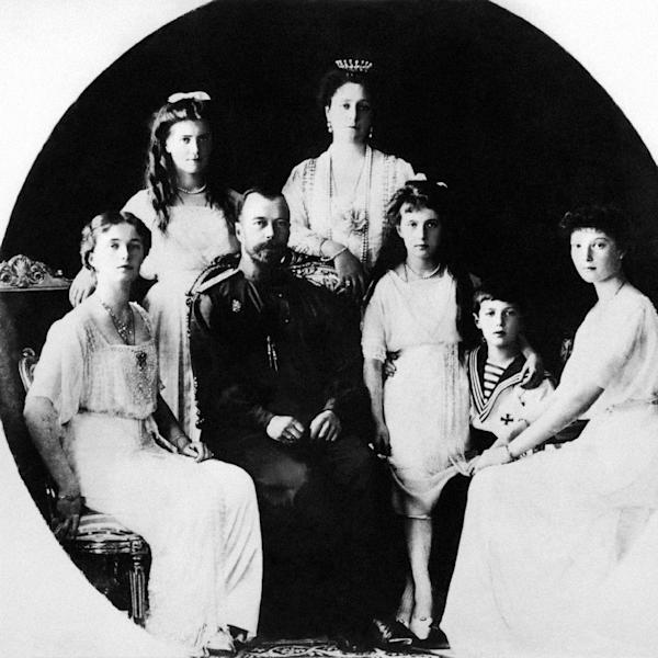 Russia's Czar Nicholas II and his family, photographed in 1917 (AFP Photo/)