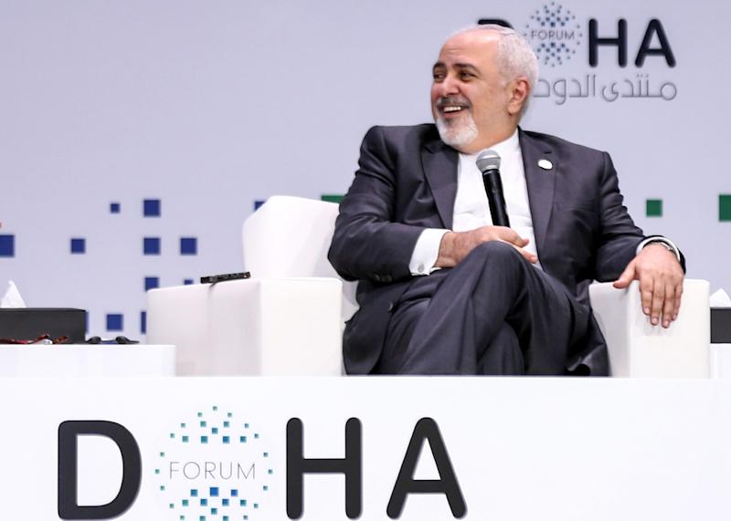 Iran's Foreign Minister Mohammad Javad Zarif speaks at the Doha Forum in the Qatari capital on December 15, 2018