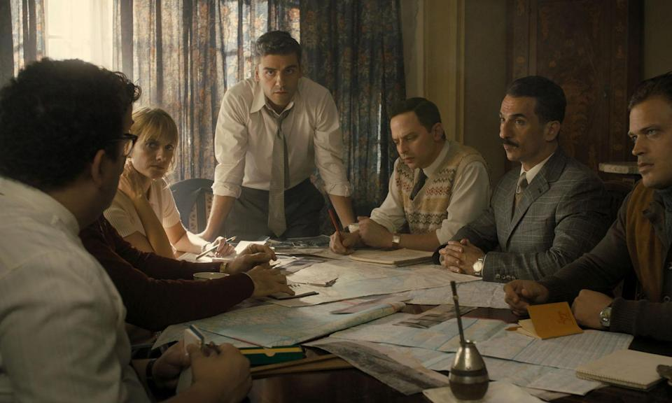 <p>Set 15 years after World War II, a team of secret agents (led by Oscar Isaac) are brought together to track down the infamous Nazi architect of the Holocaust, Adolf Eichmann. </p>