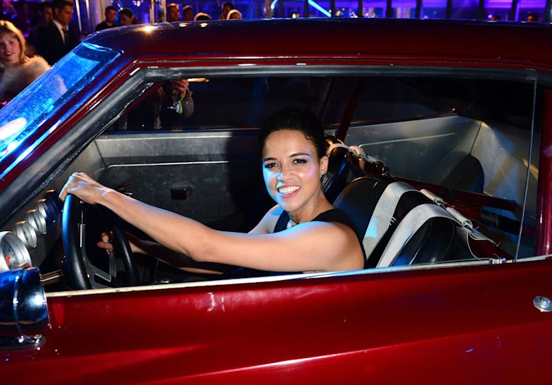 Michelle Rodriguez at the World Premiere of Fast & Furious 6 afterparty in London on Tuesday, May 7th, 2013. (Photo by Jon Furniss/Invision/AP)