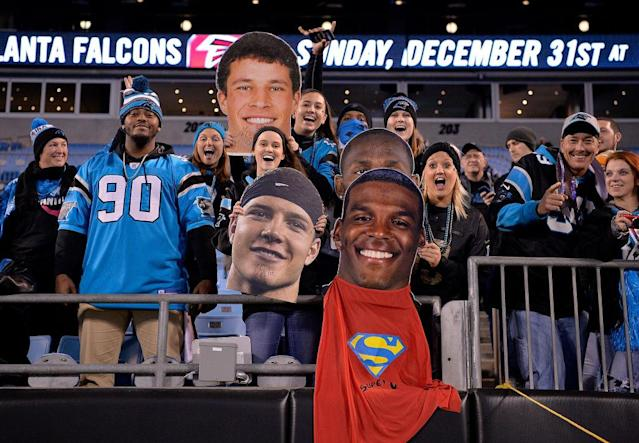 These fans enjoyed the Panthers game, but not many others did. (Getty)