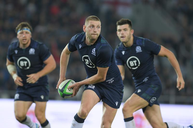 TBILISI, GEORGIA - AUGUST 31: Finn Russell of Scotland runs with ball during the rugby international match between Georgia and Scotland at Dinamo Arena on August 31, 2019 in Tbilisi, Georgia. (Photo by Levan Verdzeuli/Getty Images)