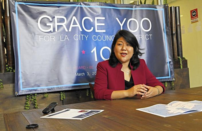 Grace Yoo, shown in 2014, said the website she set up is not defamatory.