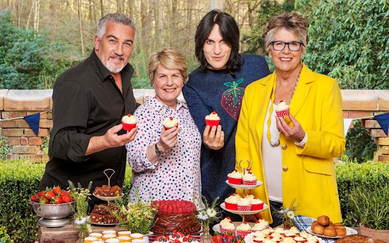 Paul Hollywood, Sandi Toksvig, Noel Fielding, Prue Leith in the first look at Channel 4's Great British Bake Off  - © Mark Bourdillon (Channel 4 images must not be altered or manipulated in any way) CHANNEL 4 PIC