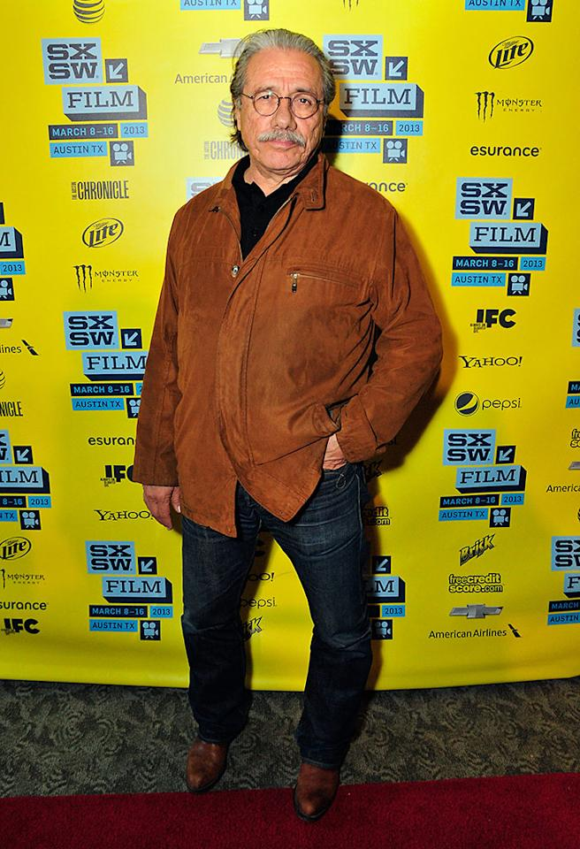 "Edward James Olmos arrives at the screening of ""Go For Sisters"" during the 2013 SXSW Music, Film   Interactive Festival at Stateside Theater on March 11, 2013 in Austin, Texas.  (Photo by Jordan Naylor/Getty Images)"