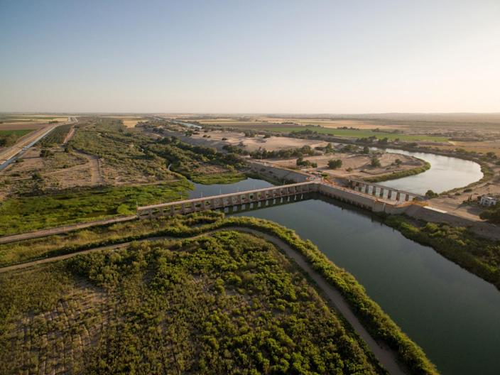 The Morelos Dam on the Lower Colorado River. (Photo: Justin Clifton)