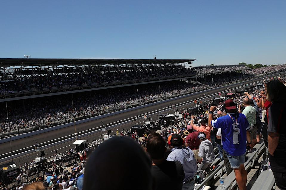 <p>A huge crowd watched on in Indianapolis</p> (Getty Images)