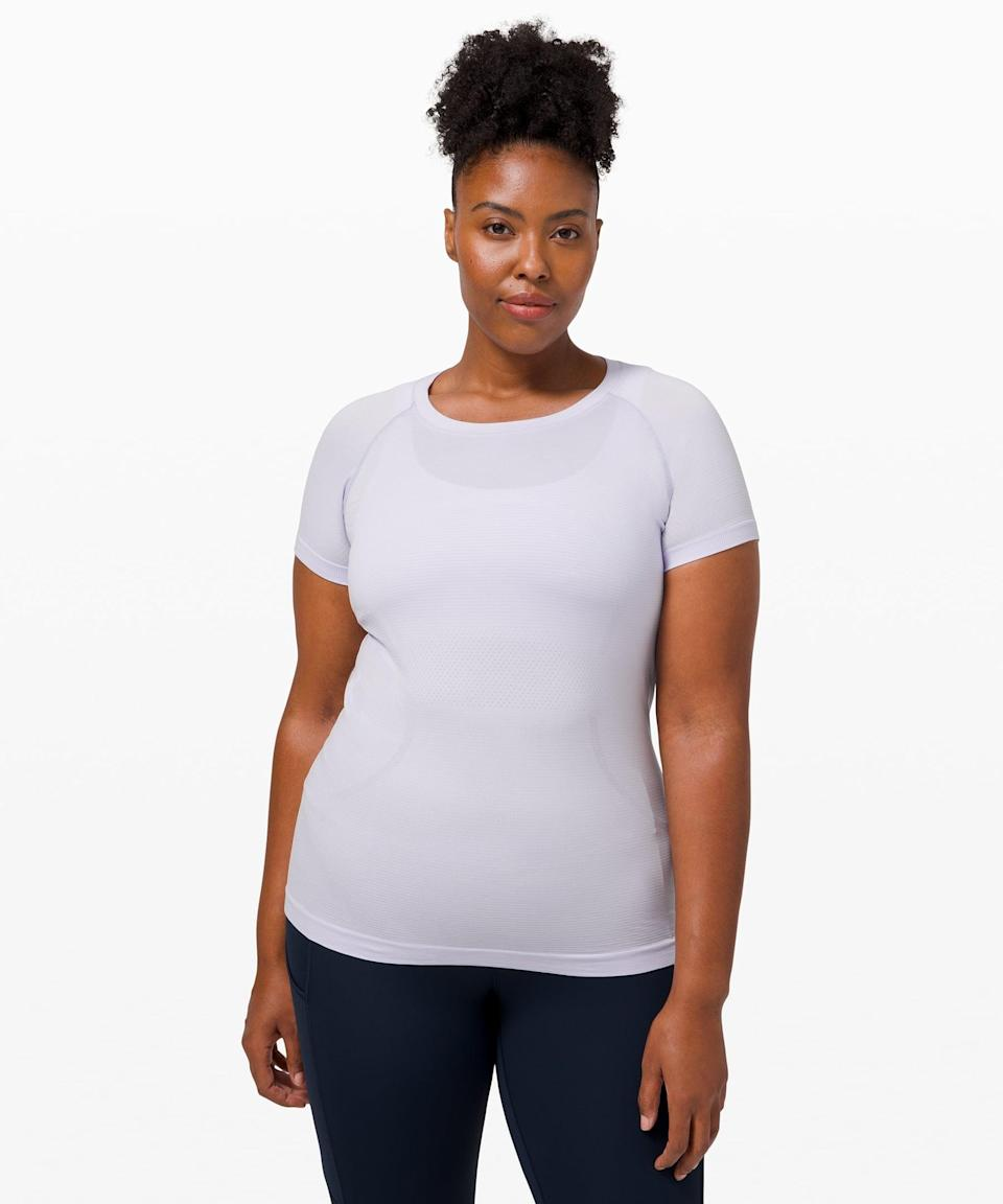 <p>You're going to love this lightweight, easy <span>Lululemon Swiftly Tech Short Sleeve</span> ($68). If you like a little more coverage and sun protection, this is your best bet.</p>