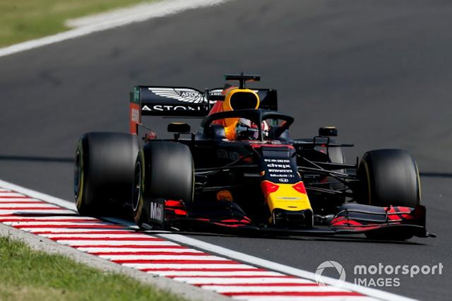 "Budapest: Max Verstappen (Red Bull) <span class=""copyright"">Joe Portlock / LAT Images</span>"