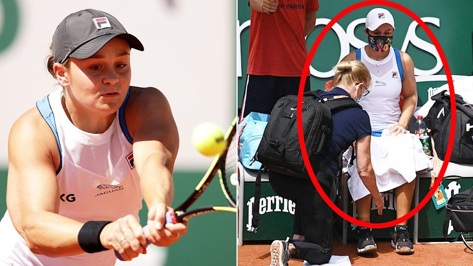 Pictured here, Ash Barty in action during the second round of the French Open.