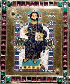 """<span class=""""caption"""">Limburg Staurotheke: a reliquary of the True Cross, made in Constantinople in about 950 AD.</span> <span class=""""attribution""""><span class=""""source"""">Warburg</span>, <a class=""""link rapid-noclick-resp"""" href=""""http://creativecommons.org/licenses/by-nc-sa/4.0/"""" rel=""""nofollow noopener"""" target=""""_blank"""" data-ylk=""""slk:CC BY-NC-SA"""">CC BY-NC-SA</a></span>"""