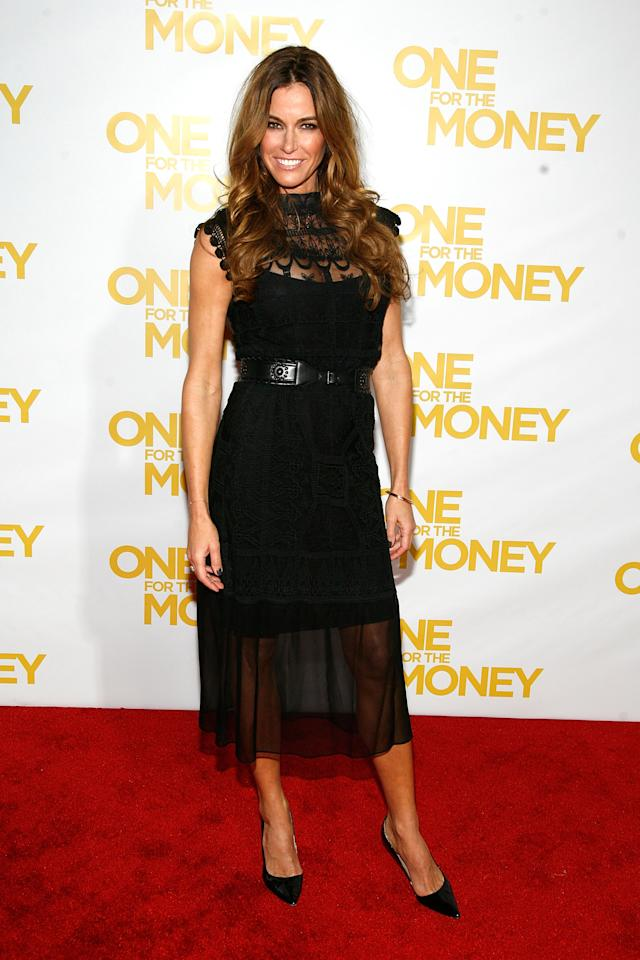 "NEW YORK, NY - JANUARY 24:  Kelly Bensimon attends the ""One for the Money"" premiere at the AMC Loews Lincoln Square on January 24, 2012 in New York City.  (Photo by Andy Kropa/Getty Images)"