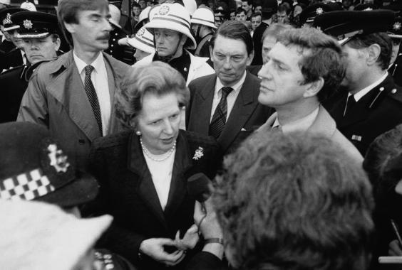 Shadow transport minister Margaret Thatcher didn't even hold the official office (Getty)