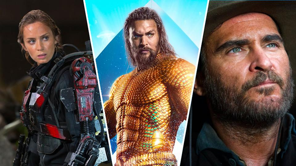 Edge of Tomorrow, Aquaman, The Sisters Brothers are all on streaming this week (Warner Bros/Universal)