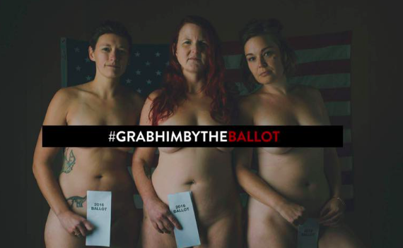 Woman are posing naked in response to misogynistic comments by presidential candidate Donald Trump [Photo: Facebook/ Anja Schutz Photography]