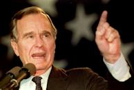Bush -- seen here in 1992 -- served one term as head of state before being defeated by Democrat Bill Clinton