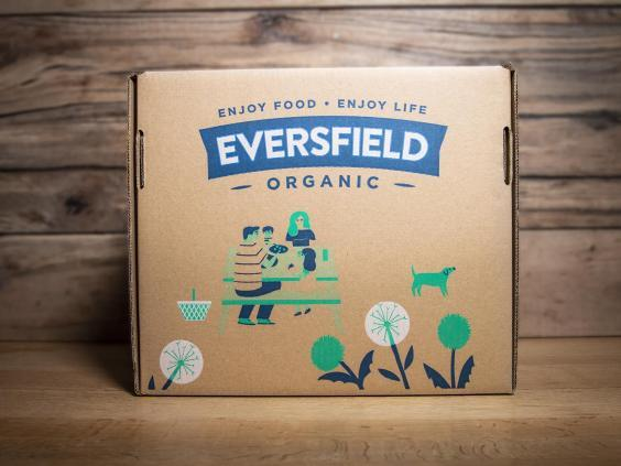 This family box from Devon-based organic farm includes everything from a whole chicken to a leg of lamb (Eversfield)