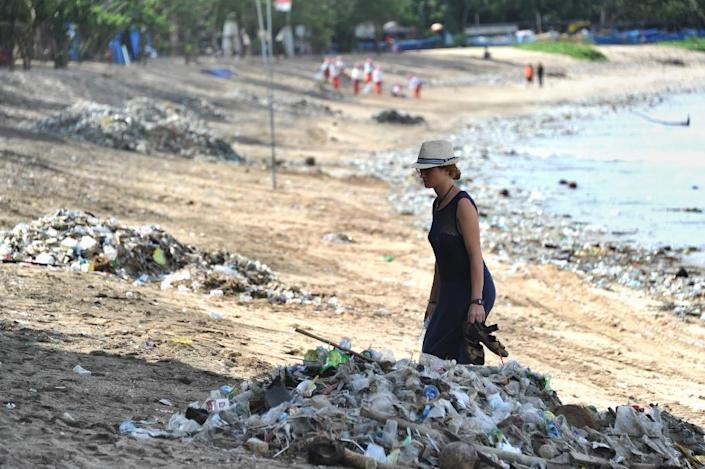 Indonesia is the world's second biggest contributor to marine debris after China (AFP Photo/SONNY TUMBELAKA)