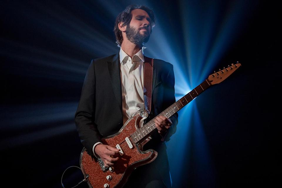 "<p>Josh Groban grabs his custom bean-themed guitar to perform his new single ""Bean Song"" on behalf of Bush's Baked Beans. </p>"