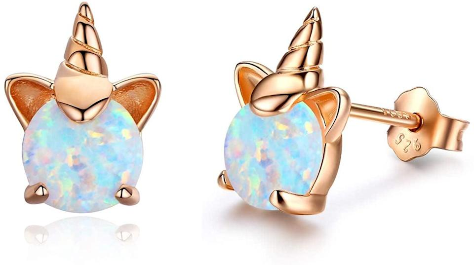 <p>These <span>Hypoallergenic Unicorn Earrings</span> ($17, originally $20) will add a spark of magic and enchantment to every outfit. The opal detailing shines in true unicorn fashion, glimmering with different colors as the light hits it.</p>