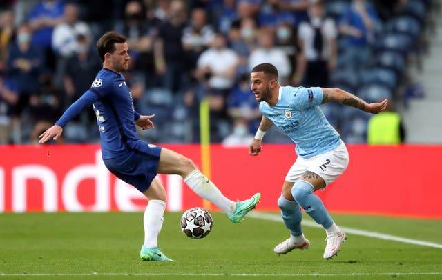 Walker's Manchester City lost to Ben Chilwell and Chelsea in the Champions League final.