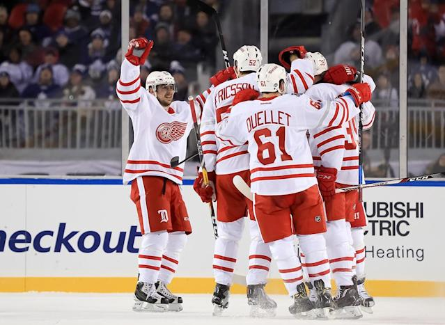 <p>Anthony Mantha opened the scoring for the Red WIngs. (Getty) </p>