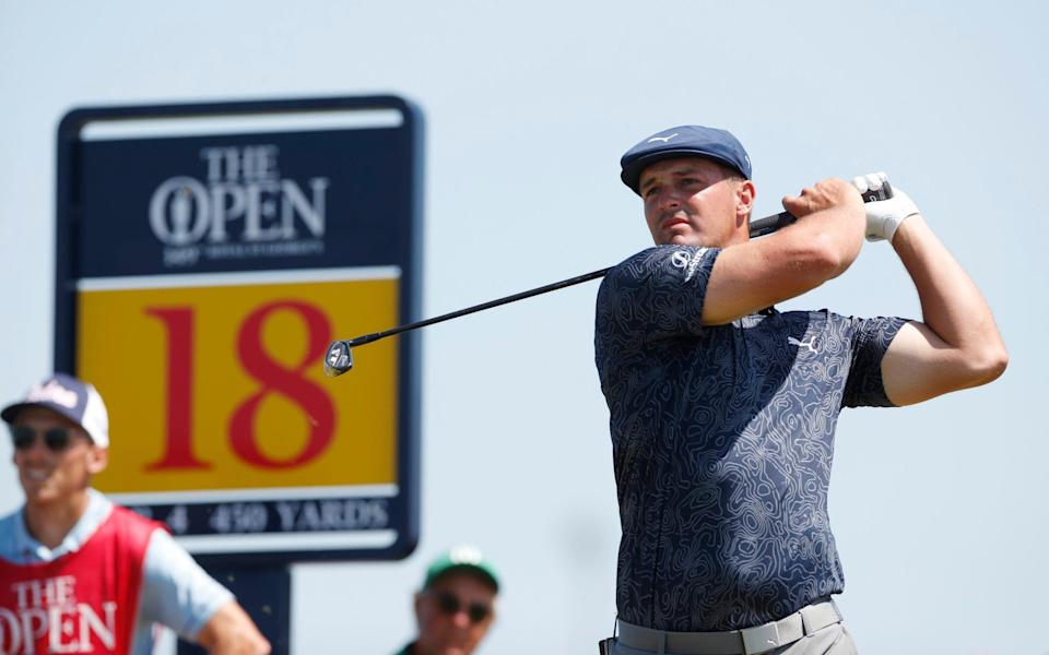 Bryson DeChambeau of the U.S. in action on the 18th during the final round - The Open warmed to Bryson DeChambeau - he is good for golf and could become a transatlantic favourite - REUTERS