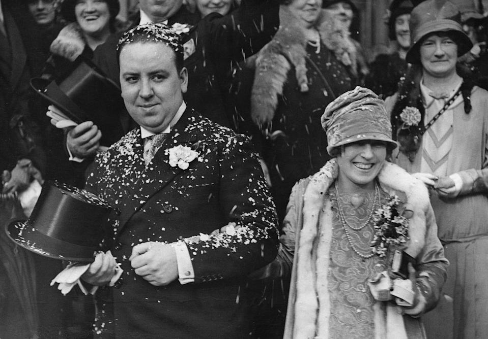 <p>The famed Master of Suspense, Alfred Hitchcock (<em>Psycho</em>, <em>The Birds</em>, <em>Rear Window</em>) married screenwriter Alma Reville in a South Kensington ceremony. The couple remained together until Alfred's death in 1980. Alma passed away not long after, in 1982.</p>