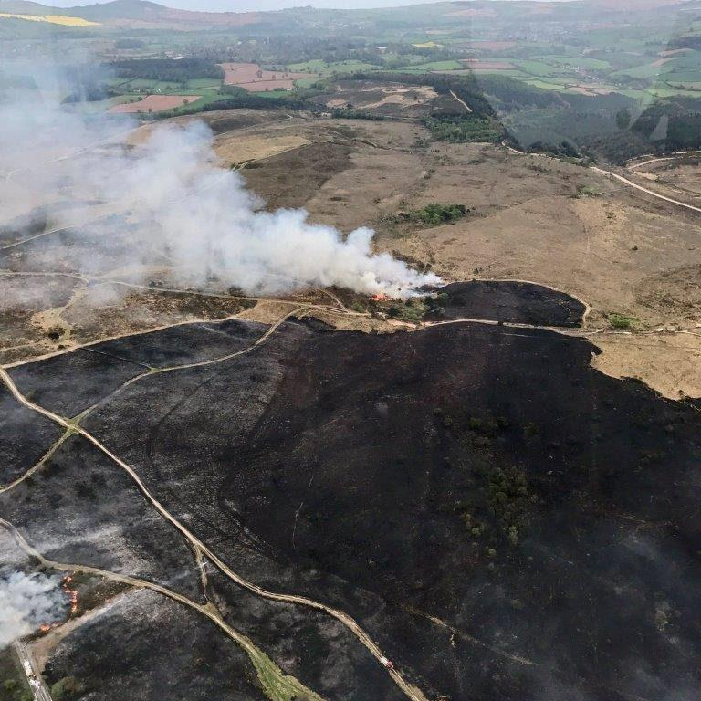 Devon fire - Credit: NPAS Exeter Police Helicopter