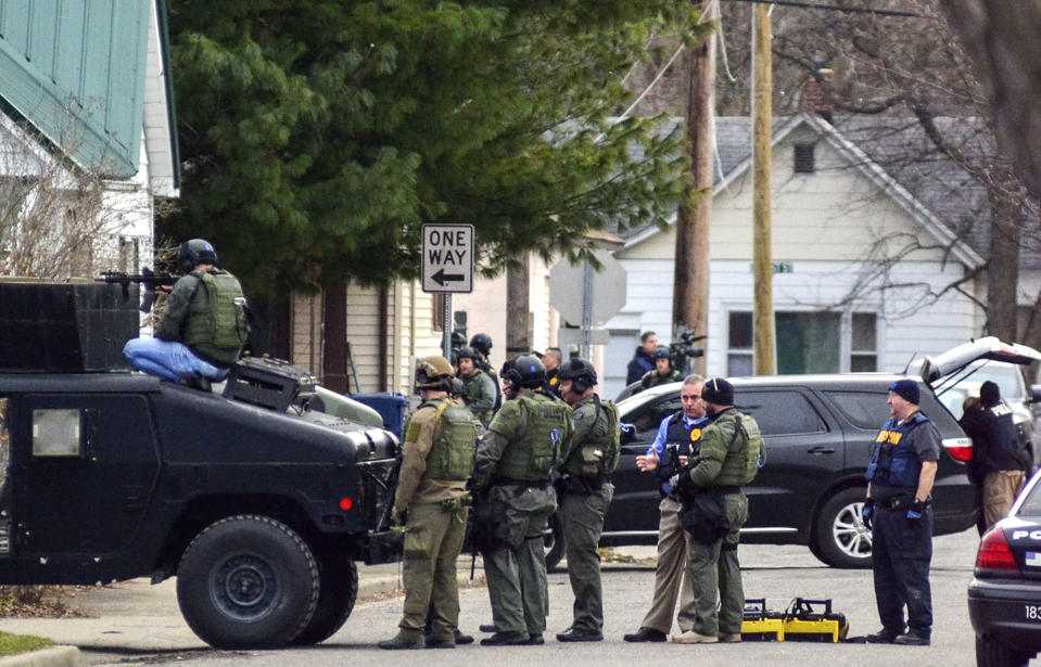 The 16-year veteran of the Terre Haute Police Department was killed in an exchange of gunfire between police and a homicide suspect, on Friday, May 4. Source: AP