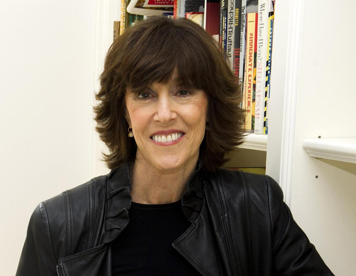 FILE - This Nov. 3, 2010 file photo shows author, screenwriter and director Nora Ephron at her home in New York. Oscar-nominated filmmaker and author Nora Ephron is very ill, according to a representative for her publisher. Nicholas Latimer of Alfred A. Knopf confirmed her condition on Tuesday, June 26, 2012, hours after celebrity columnist and friend Liz Smith published what appeared to be a memorial for the writer. Smith told The Associated Press that she had spoken to Ephron's son Tuesday morning and was told that Ephron was dying. She said when she heard that funeral plans had already been arranged, she published the column on the website Women on the Web. Latimer did not provide any additional information on Ephron's condition. (AP Photo/Charles Sykes, file)