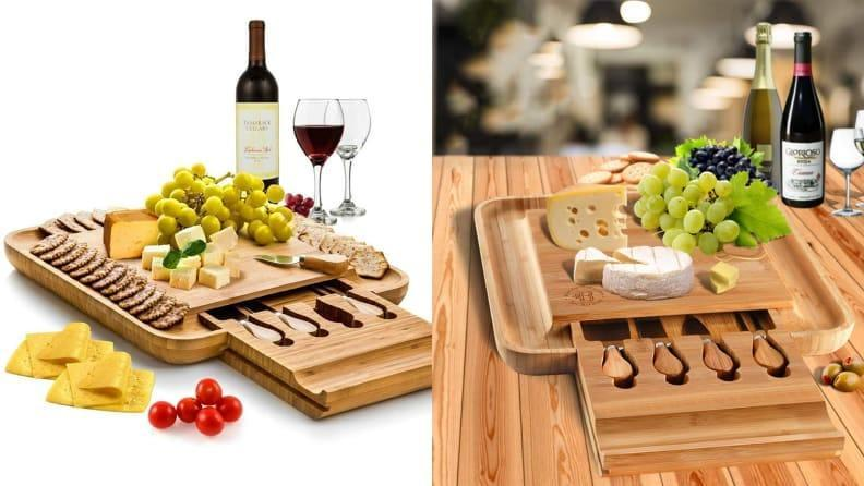 Present your cheese in the finest way possible with this board.