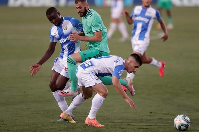 Leganés ends Madrid's perfect run but can't avoid relegation