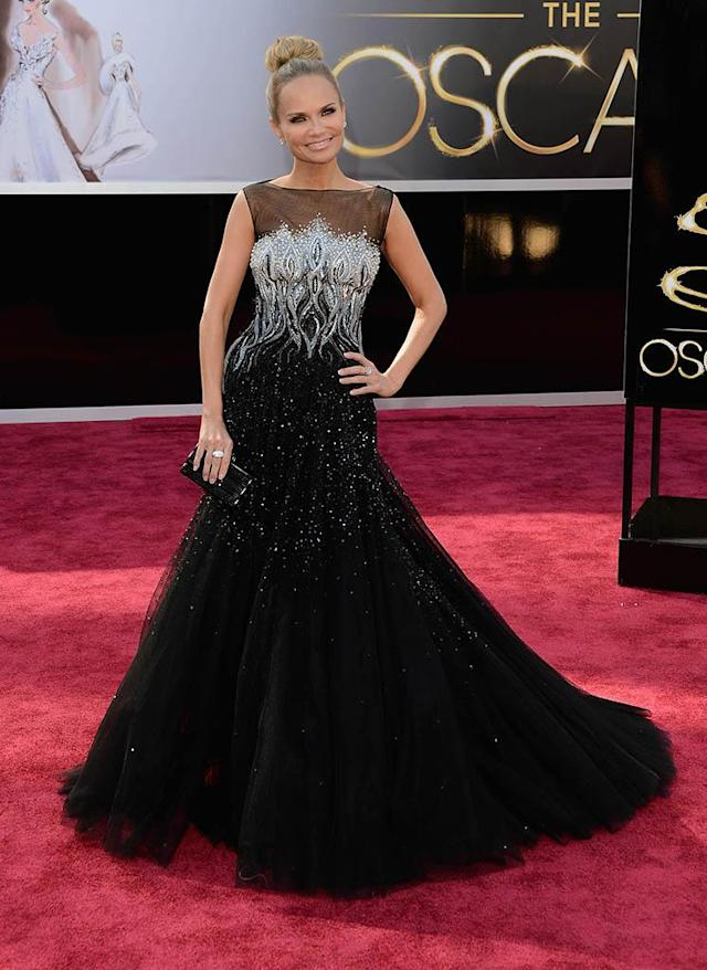 Kristin Chenoweth arrives at the Oscars in Hollywood, California, on February 24, 2013.