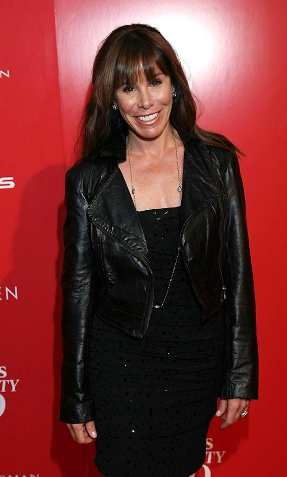 """One-time red carpet correspondent Melissa Rivers crossed over to the other side for the evening. What did you think of the 43-year-old's leather motorcycle jacket paired with a dress? Arnold Turner/<a href=""""http://www.wireimage.com"""" target=""""new"""">WireImage.com</a> - June 8, 2011"""