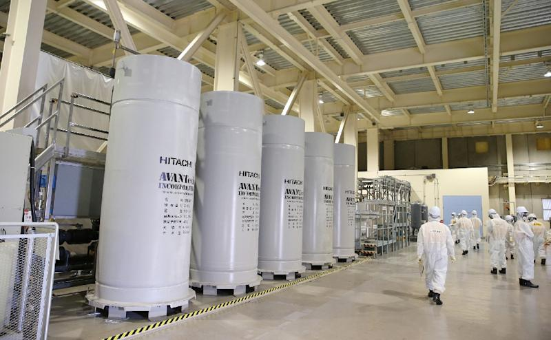 Japan's Tokyo Electric Power Co. (TEPCO) displays the new filtering facility to purify groundwater at the crippled Fukushima Daiichi Nuclear Power Plant in Okuma, Fukushima Prefecture on September 14, 2015 (AFP Photo/Japan Pool)