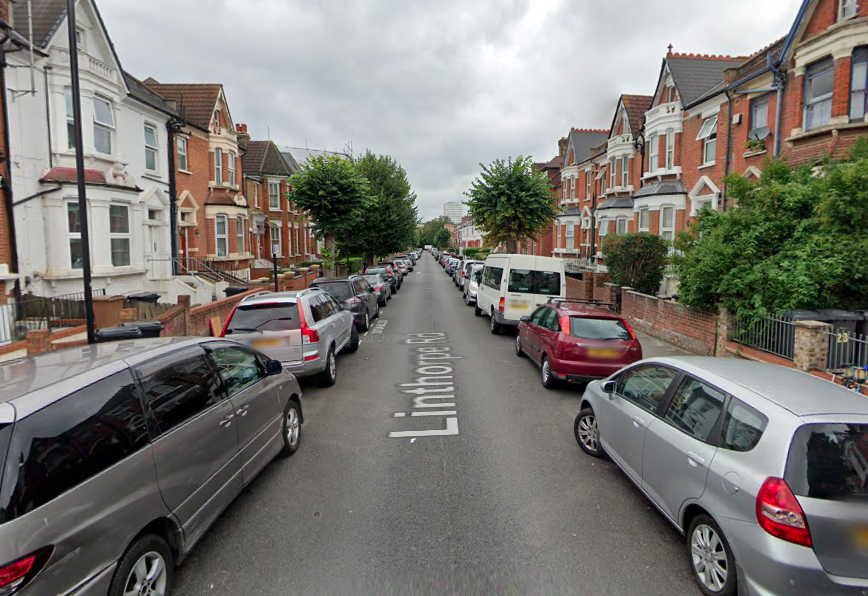 A 12-year-old girl was allegedly flashed while she was walking on Linthorpe Road in north London. (Google)