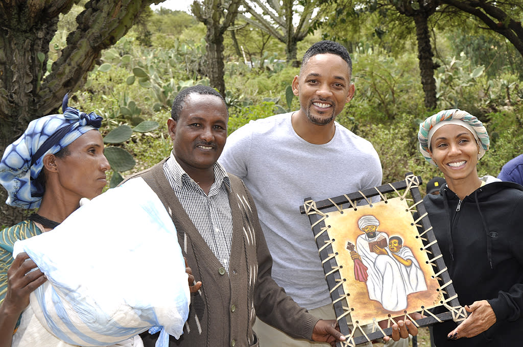 "<p class=""MsoNormal""><span>After helping to raise funds for the non-profit <a target=""_blank"" href=""http://charitywater.org"">charity: water </a>over the past two years, Will and Jada Pinkett Smith finally made the trip to Ethiopia in late June to see the work they helped fund. A pic was released this week of the couple, who spent two days in the Tigray region of the country where they visited multiple communities that have benefited from new wells, and met with villagers still waiting for clean water </span><span>…</span><span> some of whom presented the couple with a gift. </span><span>""</span><span>It was extraordinary to meet and spend time with the people of Tigray and to see first-hand how clean water changes everything for these communities,"" Will said through a press release. (7/6/2012)<em> </em></span><span></span></p>  <p class=""MsoNormal""><span style=""font-size:10pt;""><br></span></p>"