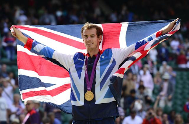 <p>Murray became the first British man to win an Olympic singles gold medal in tennis in more than a century when he beat Roger Federer in 2012. (Getty Images) </p>