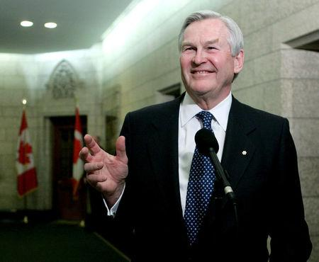 Canada's nominee as Ambassador to the United States Wilson speaks to reporters on Parliament Hill in Ottawa